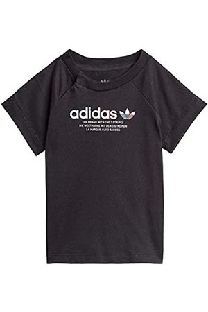adidas GN7416 tee T-Shirt Unisex-Baby Black 3-4A