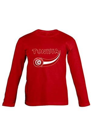 Supportershop – Túnez – Camiseta de Manga Larga para niño, Niño, Tunisie