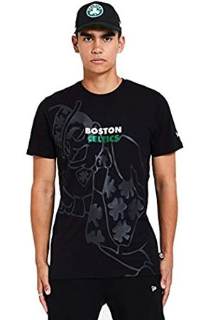 New Era Boston Celtics T Shirt/tee NBA Big Logo tee Black - XL