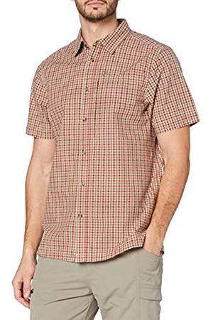 Fjällräven Svante Seersucker Shirt SS M Camisa, Hombre