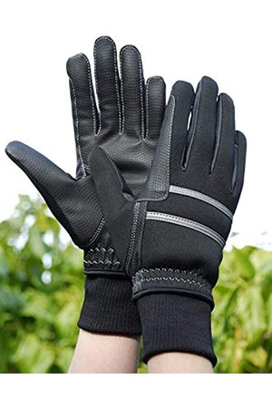 Rhinegold Thinsulate Knit Cuff Winter Riding Glove Lge-Blk Guantes
