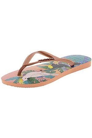 Havaianas Slim Tropical, Chanclas para Mujer, Multicolor (Silk Rose 0082)