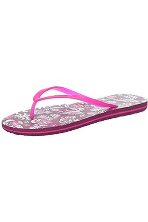 O'Neill Fw Printed Flip Flop - Chanclas Mujer, Rose (Black Aop)