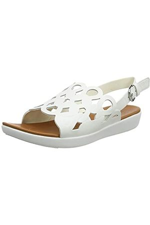 FitFlop Elodie Entwined Loops Back-Strap Sandals - Sandalia para Mujer, (Bright White)