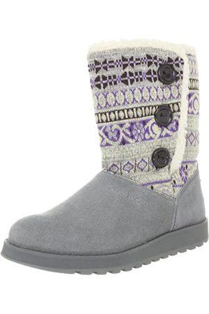 Skechers Keepsakes Cardigan 47657 GRY - Botas Fashion de Cuero para Mujer