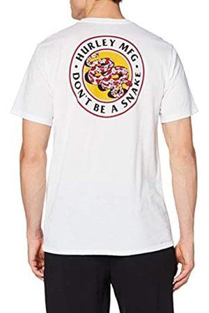 Hurley Dri-fit Don't Snake Short Sleeve Tshirt T-Shirt, Hombre, White