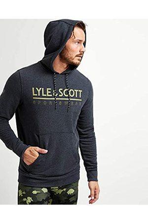 Lyle & Scott Logoothmidlayer - Sudadera con Capucha para Hombre, Hombre, ML1065SPZ366TrueBlackMarl