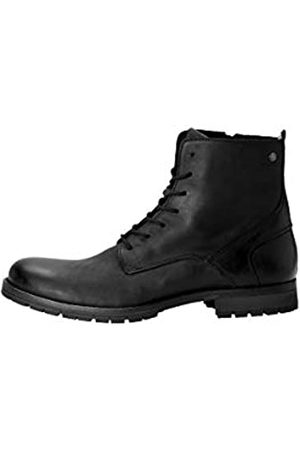 JACK & JONES JFWORCA Leather 19 STS, Chukka Boots Hombre, (Anthracite Anthracite)