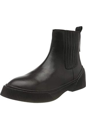Shabbies Amsterdam Shs0706, Sneaker Chelsea Boot Nappa Leather Mujer, Black