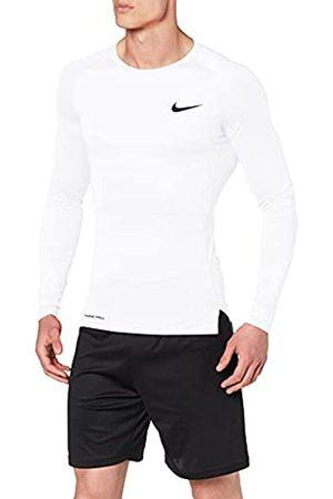Nike M NP Top LS Tight Camiseta de Manga Larga, Hombre, White/Black