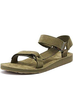 Teva Original Universal-Leather, Sandalias de Punta Descubierta Hombre, (Burnt Olive Btol)