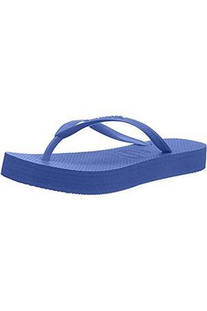 Havaianas Slim Flatform, Chanclas para Mujer, (Blue 0057)