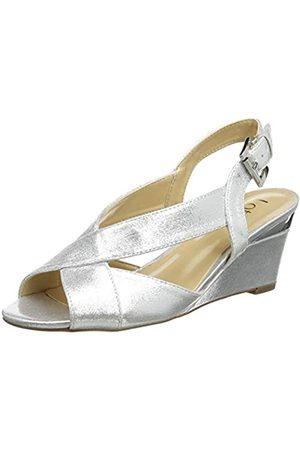 Lotus Dominica, Zapatos de tacón con Punta Abierta Mujer, (Silver JJ)