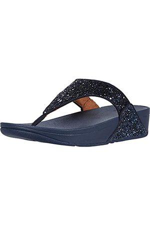 FitFlop Lulu Glitter Toe-Thongs, Sandalias de Punta Descubierta Mujer, Blue (Midnight Navy 399)