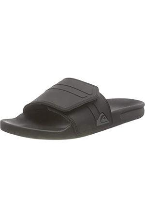 Quiksilver Rivi Slide Adjust, Sandalia Hombre, Black/Grey/Black