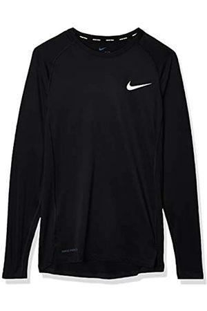 Nike M NP Top LS Tight Camiseta de Manga Larga, Hombre, Black/White