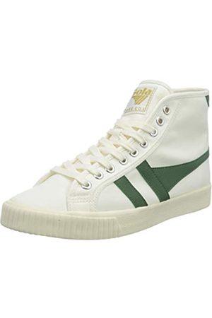 Gola Tennis Mark Cox High, Zapatillas para Mujer, Off White/Dark Green