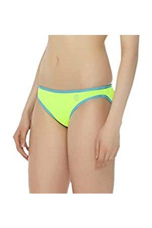 Glide Soul Mujer 0,5 mm Color Blocking Bikini Bottom – Limón/Bright Cyan