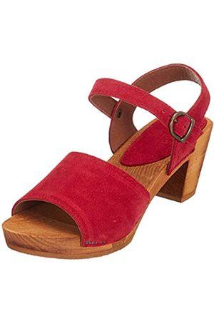 Sanita Menna Square Flex Sandal, Sandalia con Pulsera Mujer, Rot (Red 4)