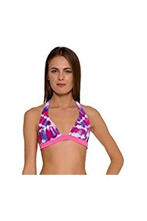 Glide Soul Mujer 0,5 mm Tie Dye Cuello Hatler Bikini Top – Violet-Pink PRNT/XS