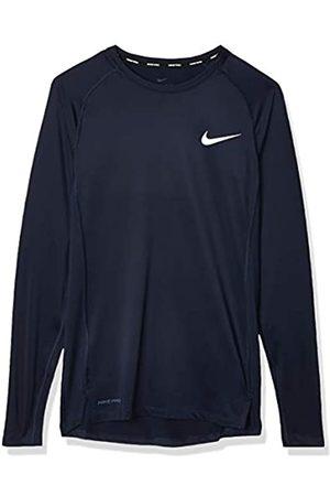 Nike M NP Top LS Tight Camiseta de Manga Larga, Hombre, Obsidian/White