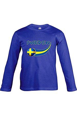 Supportershop – Suecia – Camiseta de Manga Larga para niño, Niño, Suède