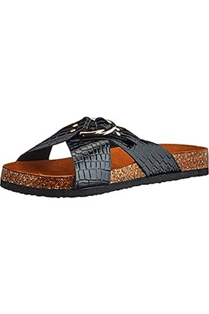 ONLY ONLMAXI-2 PU Croc Crossover Sandal, Sandalia Hombre