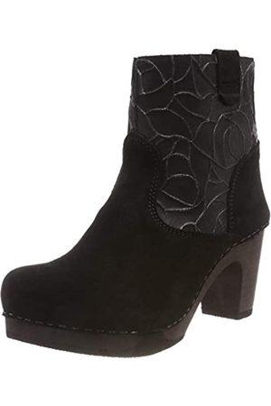 Sanita Wood viben Medium Flex Boot, Botas Plisadas Mujer, (Black 2)