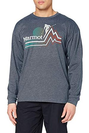 Marmot Piste tee LS - Camiseta de Manga Larga para Hombre, Hombre, 42040-8550-6-XL