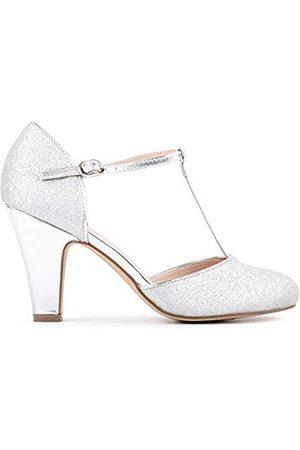 Paradox London Pink Flamenco, Zapatos de tacón con Punta Cerrada Mujer