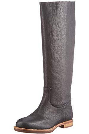 Shabbies Amsterdam Shs0469, Boot 2 CM Grain Leather Mujer, Black