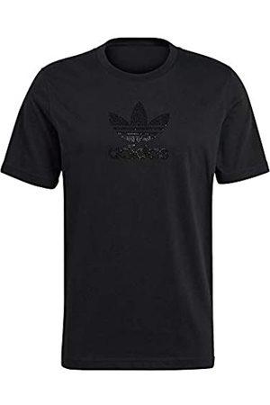 adidas GN3646 TREF RHINESTNE T-Shirt Mens Black XL