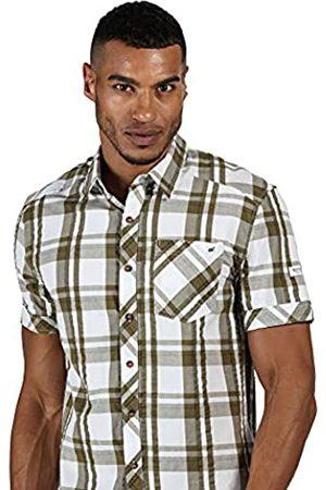 Regatta Deakin III-Camisa De Algodón Coolweave A Cuadros Y Manga Corta Shirts, Hombre
