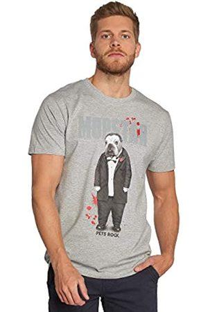 Merchcode Petsrock Dogfather tee Camiseta, Hombre