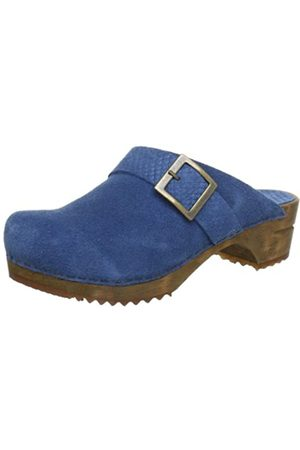 Sanita Wood-Naia Open, Zuecos Mujer, -Blau (Blue 5)