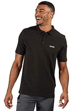 Regatta Sinton-Polo Deportivo Ligero con Cuello Acanalado De Algodón T-Shirts/Polos/Vests, Hombre, Black