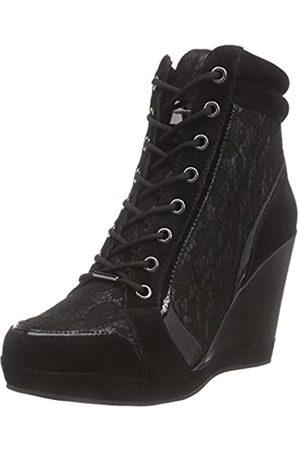 Fornarina Britt, Zapatos de Cordones Brogue para Mujer, -Schwarz (Black / 0000)