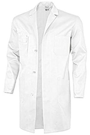 Qualitex Basic - Bata de Trabajo 100% algodón, 240 g/m2, Color Blanco, Talla 44, Hombre, 61951DF-44w
