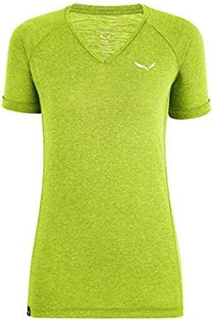 Salewa Puez Mel Dry W V-Neck S/S Camiseta, Mujer