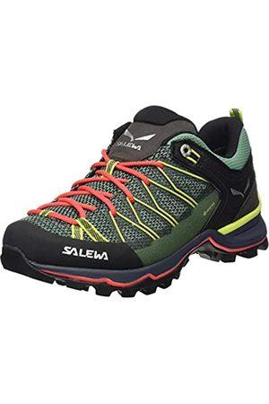 Salewa WS Mountain Trainer Lite Gore-Tex, Trekking-& Wanderstiefel Mujer, (Feld Green/Fluo Coral 5585)