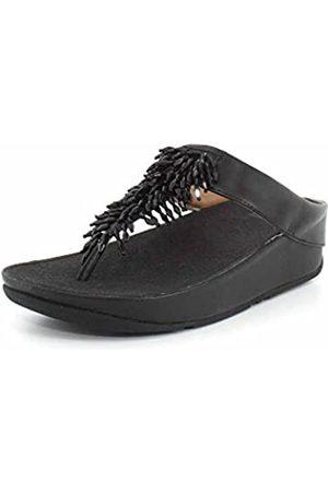FitFlop Rumba Toe-Thong, Sandalias de Punta Descubierta Mujer, (Black 001)