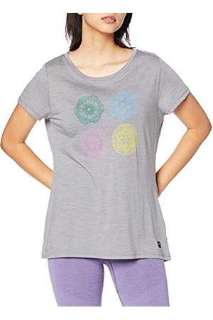 Supernatural Super.natural Camiseta de Manga Corta para Mujer, con Lana de Merino, W Printed tee, Mujer, Camiseta de Manga Corta Estampada, SNW013403M03XS