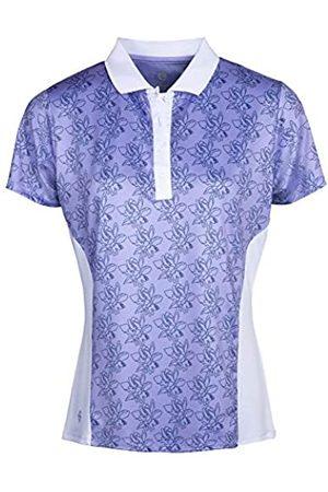 Island Green Camiseta de Manga Corta para Mujer Freesia con Estampado Floral, Transpirable, para Golf, Mujer, Camisa de Golf, IGLTS2052_LA/WH_S