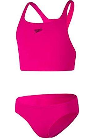 Speedo Essential Endurance+ Medalist 2 Piece Bikini, Niñas, Electric Pink