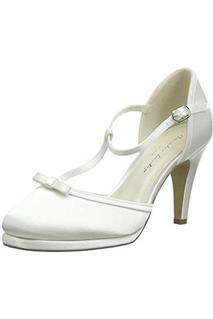 Paradox London Pink Misty, Zapatos con Tacon y Tira Vertical Mujer, Marfil (Ivory 275)