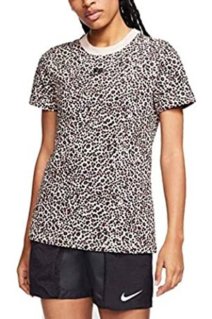 Nike NSW AOP PRNT Pack SS tee T-Shirt, Hombre, White-Black-Brown
