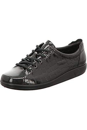 Ecco Soft 2.0, Zapatos de Cordones Derby Mujer, (Black 51052)