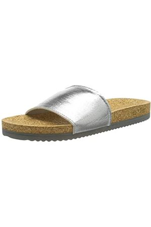 flip*flop Poolcorgi, Sandalia Mujer, Plata (Silver)