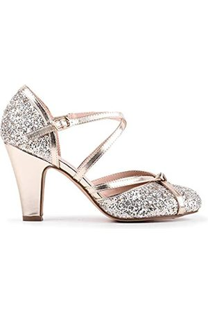Paradox London Pink Fifi, Zapatos de tacón con Punta Cerrada Mujer, Gold (Champagne 225)
