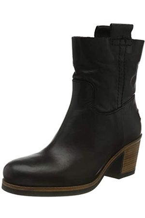Shabbies Amsterdam Shs0254, Ankle Boot 5.5 CM Nappa Leather Mujer, Black